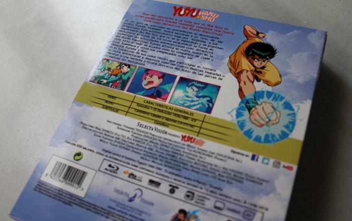 Yu Yu Hakusho Box 1, de Selecta Visión contraportada - el palomitron