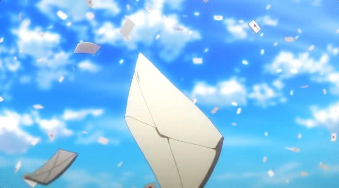 La animación de Violet Evergarden escena 13 - el palomitron