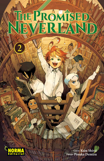 Reseña de The Promised Neverland #2 cubierta manga - el palomitron