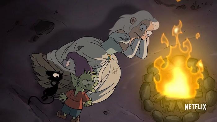 Bean, Luci y Elfo Desencanto Matt Groening Netflix – El Palomitrón