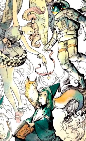 Atelier of Witch Hat #1, de Kamome Shirahama Imagen a color introducción - el palomitron