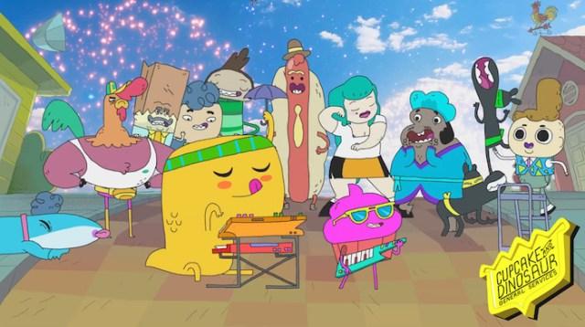 cupcake y dino personajes – el palomitron