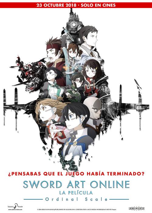 fecha de estreno de Sword Art Online Ordinal Scale en España póster promocional - El Palomitrón