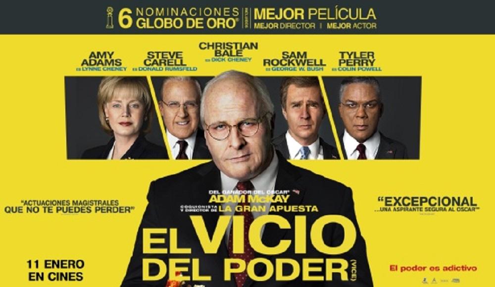 El vicio del poder - banner - El Palomitrón