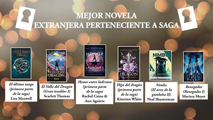 Mejor novela extranjera perteneciente a saga premios Templis- El Palomitrón