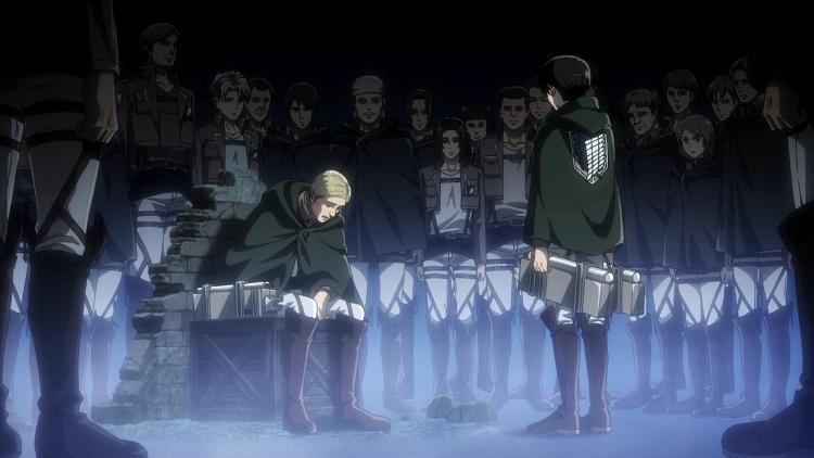 Crítica de Shingeki no Kyojin 3x16 Erwin y Levi - el palomitron