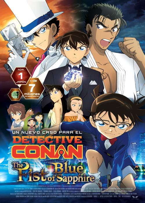 Fecha de estreno de Detective Conan El Puño de Zafiro Azul en España cartel - El Palomitrón