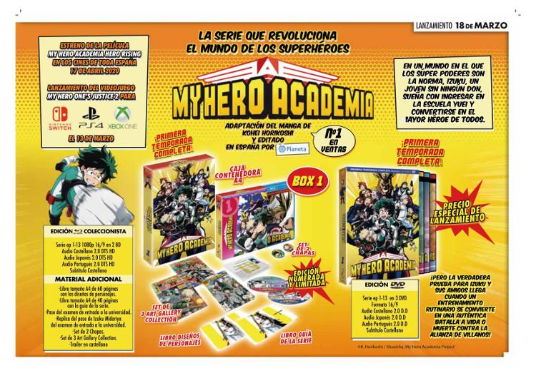 Lanzamientos Selecta Visión marzo 2020 My Hero Academia - El Palomitrón