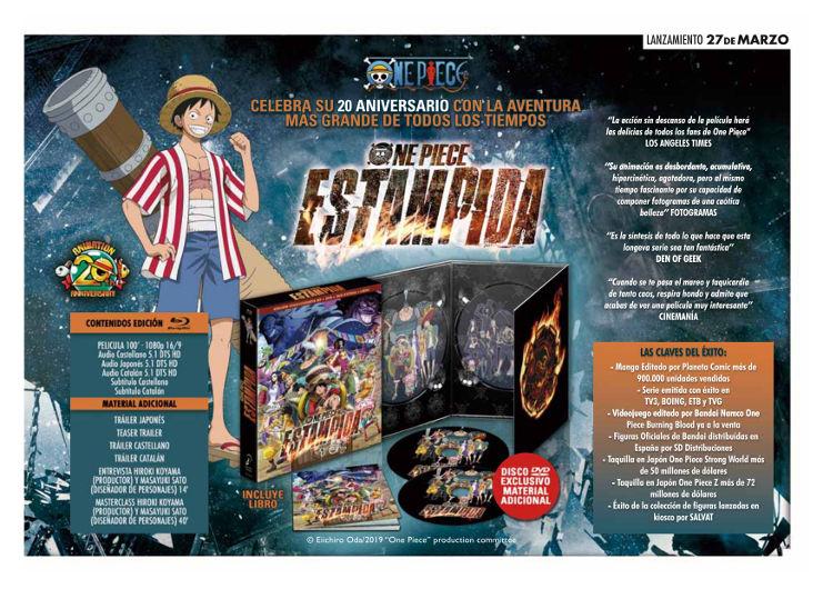 Lanzamientos Selecta Visión marzo 2020 One Piece Estampida 1 - El Palomitrón