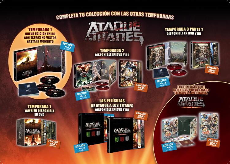 Lanzamientos Selecta Visión julio 2020 Ataque a los Titanes Temporada 1 completa - El Palomitrón