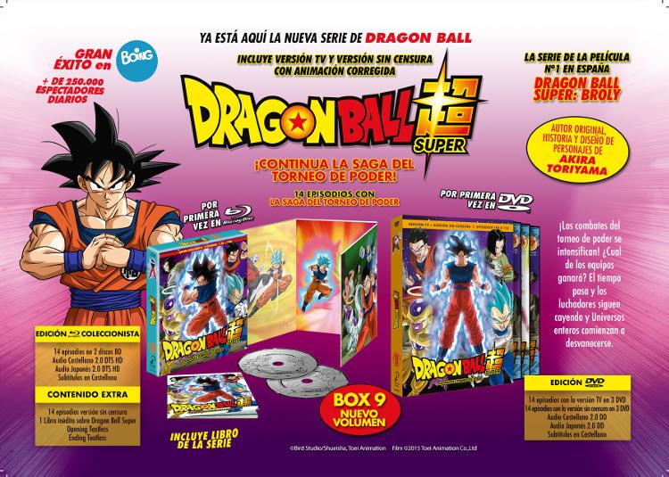 Lanzamientos Selecta Visión julio 2020 Dragon Ball Super Box 9 - El Palomitrón