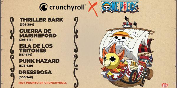 One Piece suma nuevos episodios al catálogo de Crunchyroll España destacada - El Palomitrón