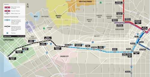 Mapa de las estaciones de Expo fase II