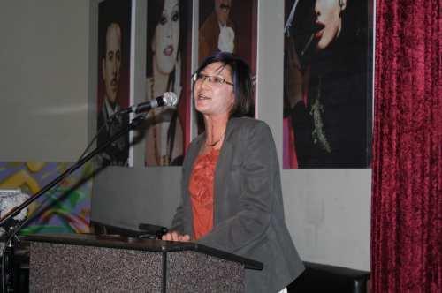 Jennifer Klausner, directora ejecutiva de LACBC durante el segundo aniversario de Ciudad de Luces o City of Lights. (Foto Agustín Durán/El Pasajero)
