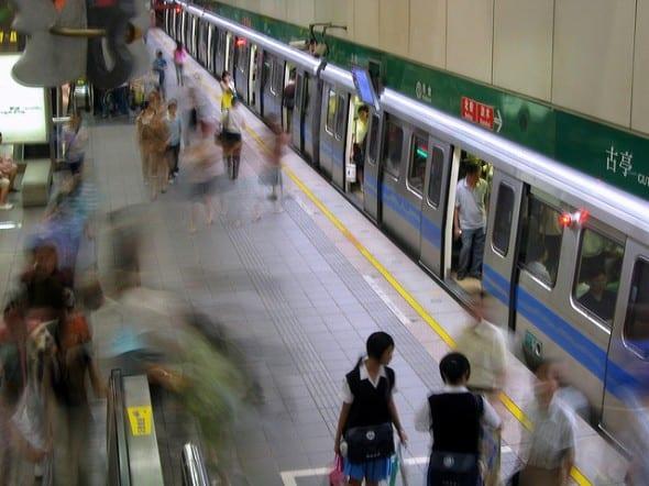 Taipei MRT. Fotografía de Jennifer, vía Flickr creative commons.