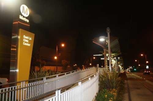 Estación East LA Civic Center, de la Línea Dorada del Metro. (Foto Agustín Durán/El Pasajero).