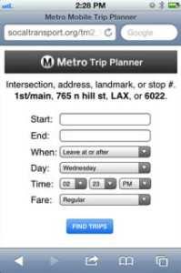 Servicio Trip Planner