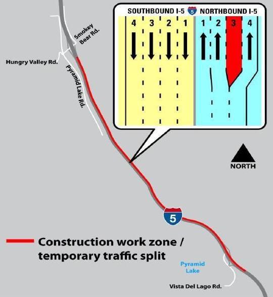 I-5 Lane Closure