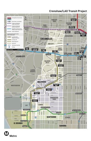 mapa Crenshaw line