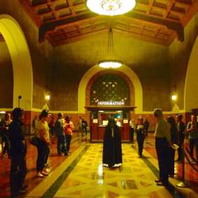 Invisible Cities durante su actuación del año pasado en Union Station. Foto: Alissa Walker.