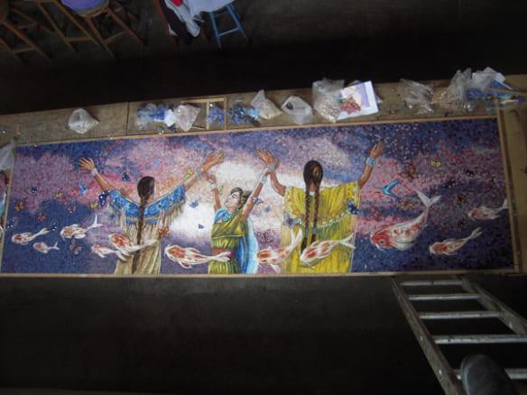 Vista general de uno de los paneles. Foto: Perdomo Studio.