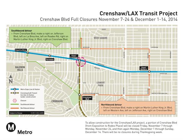 crenshaw-closures-detour-map