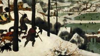 """Hunters in the Snow"" de Pieter Bruegel."