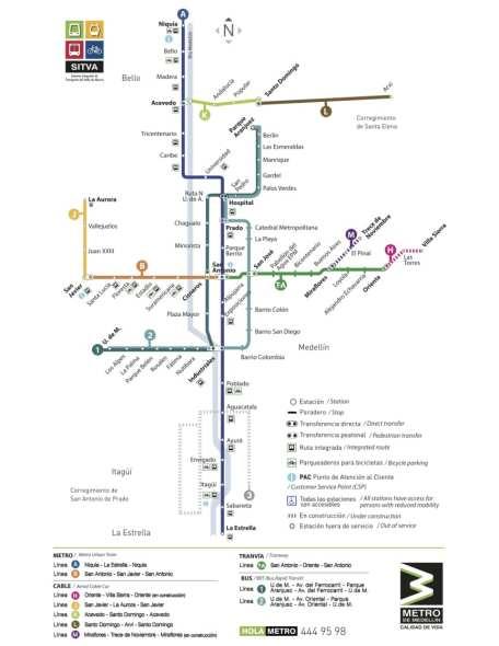mapa Medellín