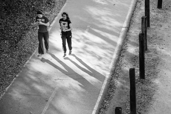 Vía peatonal y para ciclistas en Duarte. Foto: Steve Hamon/Metro.
