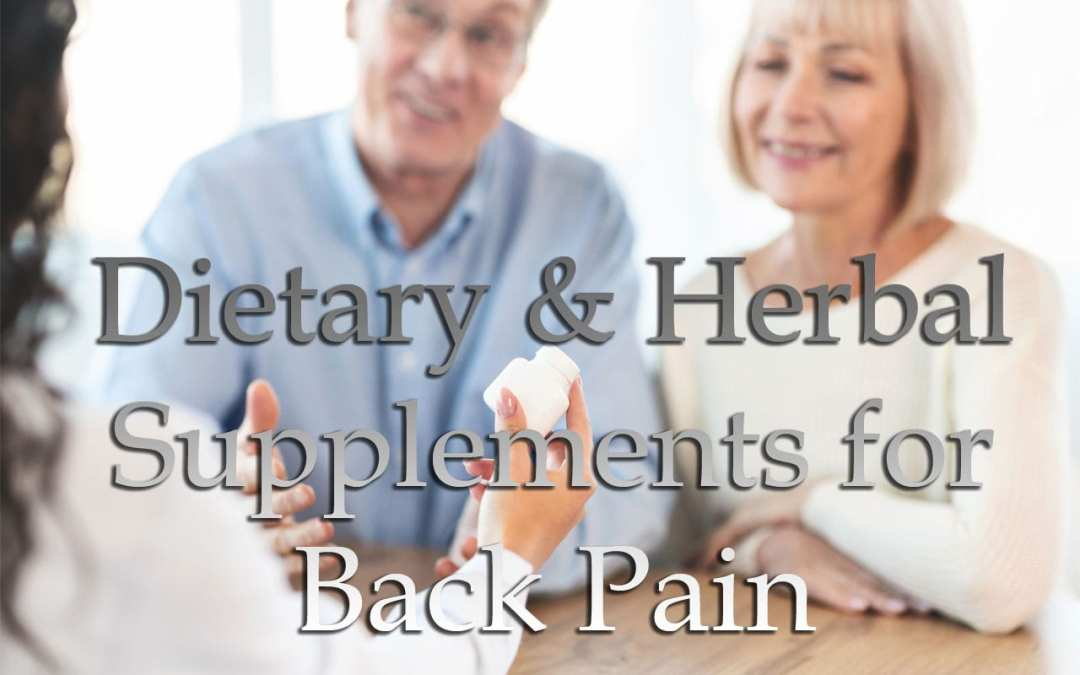 Dietary and Herbal Supplements for Back Pain El Paso