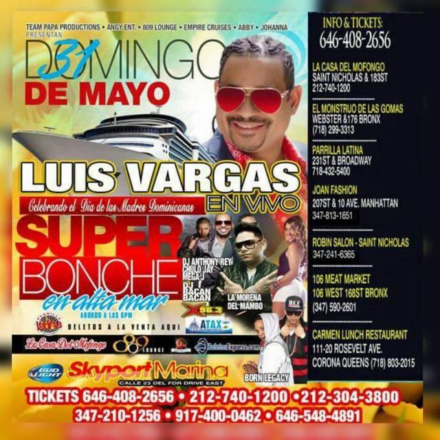 Super Bonche en Alta Mar Con Luis Vargas Papaproductions Team