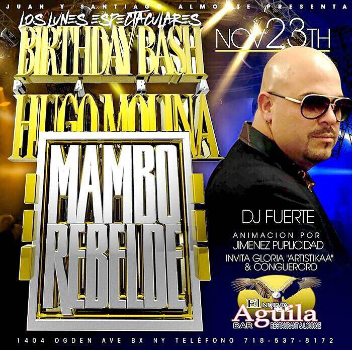 Molina Mambo Rebelde LIVE Lunes 23 De Noviembre Desde El Aguilita Bar & Lounge (Lunes Espectaculares)