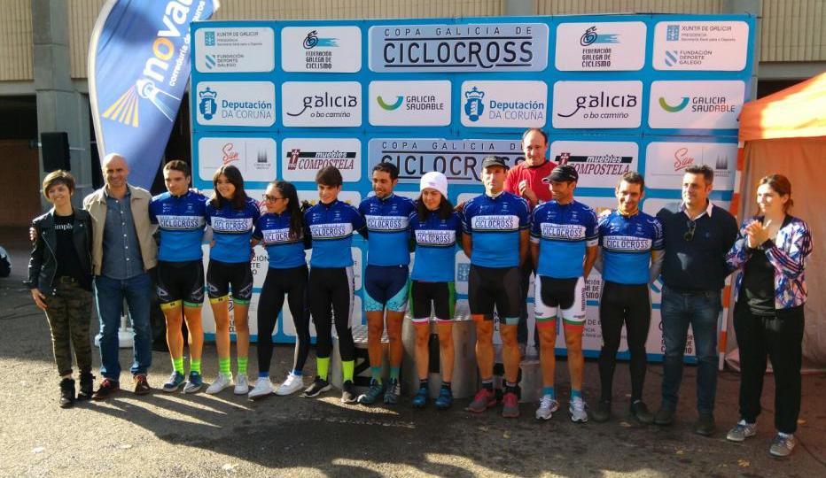 Líderes gallegos tras el Ciclocross de Santiago (Foto: @F_Gal_Ciclismo)