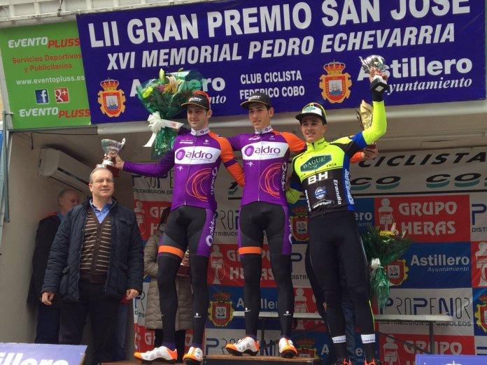 Imagen del podium de Astillero con Miguel Ángel Fernández, de Aldro, en lo más alto (Foto: @BaqueBH)