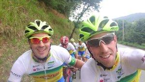 Primeras pedaladas con su nuevo equipo. Fuente: Twitter Jordi Simón
