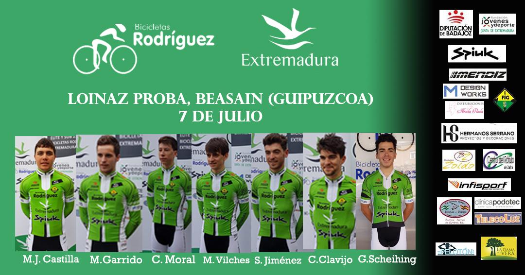 Alineación Bicicletas Rodríguez Extremadura Beasain Loinaz Proba