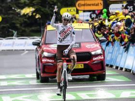Ben O'Connor celebra su victoria (Foto: letour.fr)