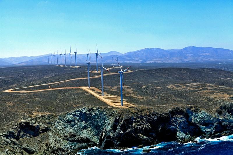 Parque eólico de Punta Palmeras, en Chile. FOTO: Acciona