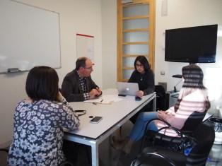 Miembros del equipo de El Periodista Online durante la entrevista
