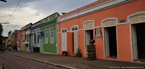 Casas de colores barrio antiguo