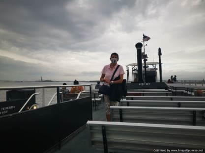 Ferry vacio a Liberty island