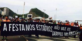 La Fiesta en los Estadios No vale las Lagrimas en las Favelas
