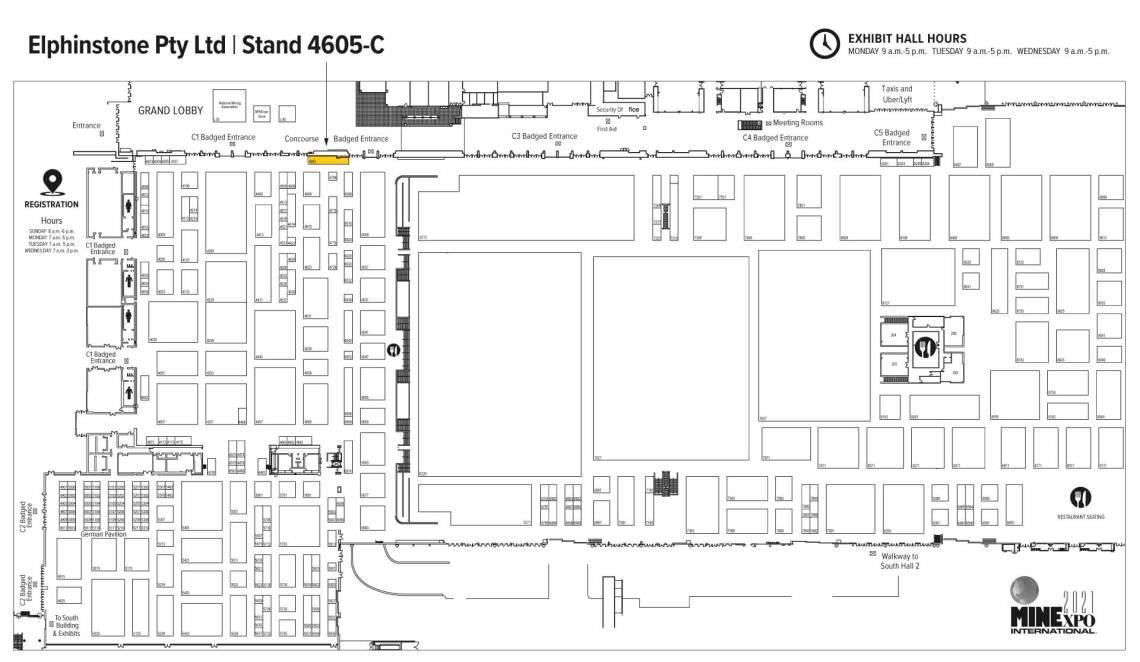 Minexpo 2021 floor plan