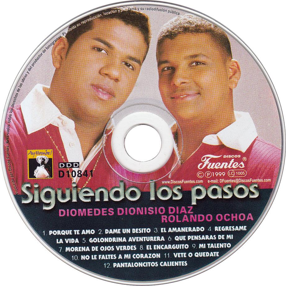 Diomedes Dionisio Díaz y Rolando Ochoa, con su primer disco: 'Siguiendo los pasos'.