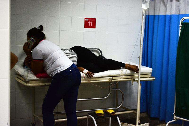 la presunta homicida, registra una herida en la frente, golpes y traumas en el rostro, responde al nombre de Filomena Escorcia Rivera, de 51 años, oriunda de Valledupar.