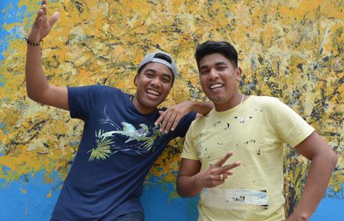 Foto / Joaquín Ramírez  Kanner y Keyner son Los K Morales, quienes estuvieron de visita en EL PILÓN.
