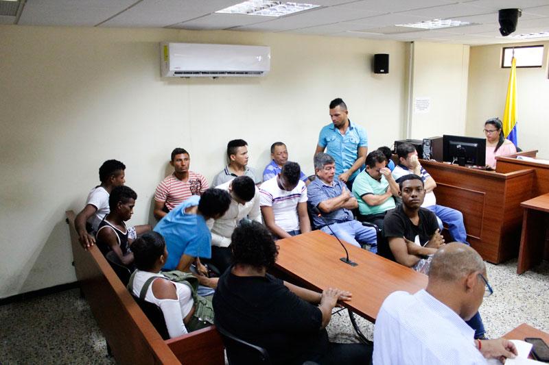 Los detenidos en audiencias concentradas.