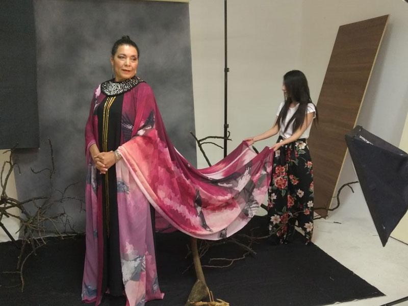 Un diseño inspirado en la cultura wayúu llevará la actriz protagónica de Pájaros de Verano a la gala de los Premios Fenix, en México.