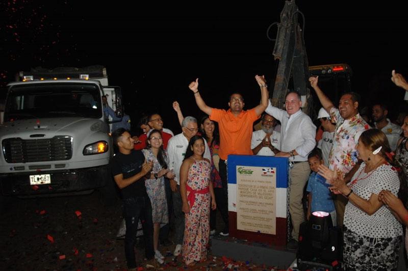 El gobernador del Cesar y el Alcalde de Valledupar dieron inicio a las obras de la Casa en el Aire y un colector de aguas lluvias en la calle 32.