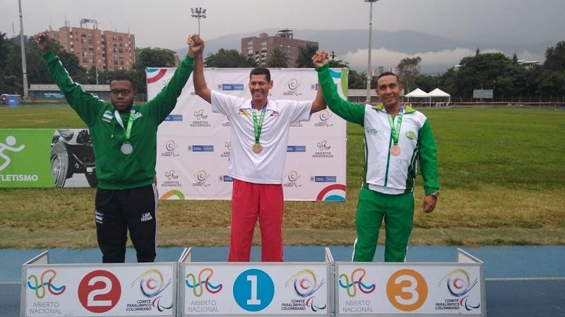 Momentos de orgullo vivieron los para-atletas del Cesar cada vez que subían al podio. .